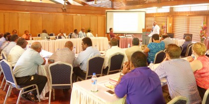 Permament Secretaries at a recent meeting this year. Photo credit: SIBC.