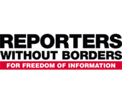 The official Reporters Without Boarders logo. Photo credit: Trend.