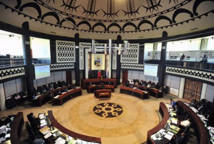 Inside the National Parliament. Photo credit: National Parliament of Solomon Islands.