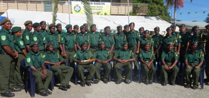 The CSSI officers who graduated. Photo credit: SIBC.