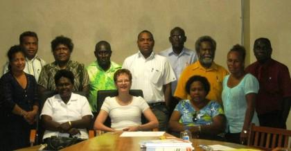 SINU staff with Professor Nita Temmerman. Photo credit: SINU.
