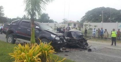 The vehicles which collided in the accident. Photo credit: Facebook.