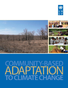 A report cover of the UNDP Climate Change Adaptation in the community. Photo credit: UNDP.