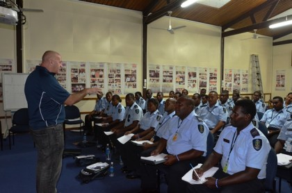 Police officers at the training in Honiara. Photo credit: Johnson Honimae.