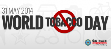 World No Tobacco Day poster. Photo credit:UCanQuit2.