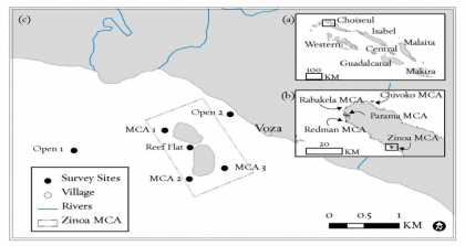 A map of the Ziona area. Photo credit: TNC.