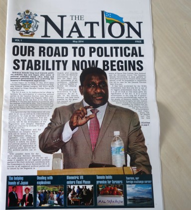 A copy of The Nation. Photo credit: SIBC.