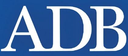 The Asian Development Bank logo. Photo credit: ADB.