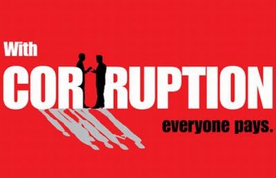 An Anti-Corruption sticker. Photo credit: The Foundation of Life.