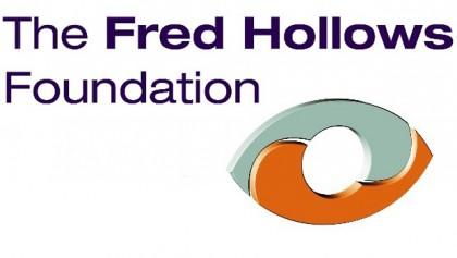 Fred Hollows Foundation logo. Photo credit: FHF.