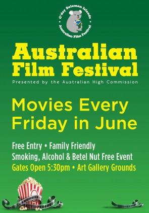 G' Day Solomons Film Festival poster. Photo credit: Australia in Solomon Islands.