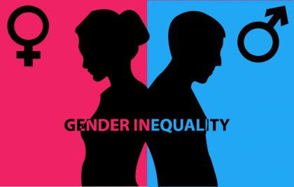 Gender inequality logo. Photo credit: Development Diaries.