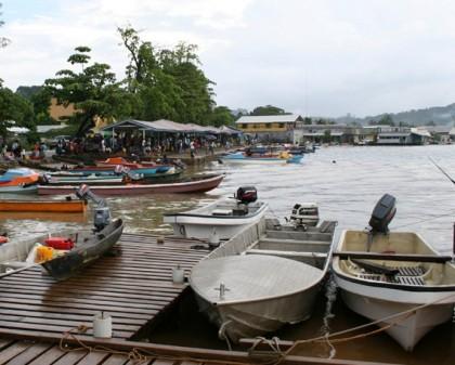 Gizo waterfront. Photo credit: Wikipedia.