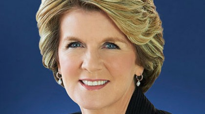 Australian Foreign Minister Julie Bishop. Photo credit: Out In Perth.
