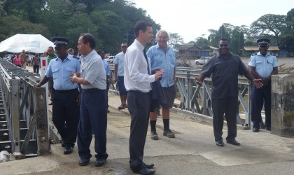Prime Minister Gordon Darcy Lilo after officially opening the bridge. Photo credit: SIBC.