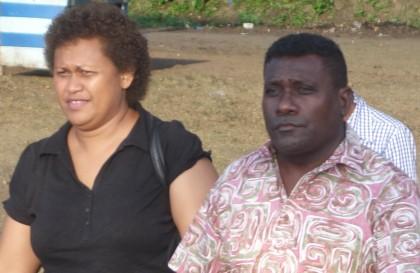 Prime Minister Gordon Darcy Lilo and Madam Lilo at Viru, Western Province. Photo credit: SIBC.