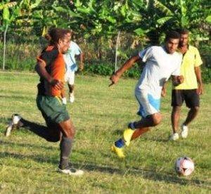 A soccer match. Photo credit: Solomon Times.