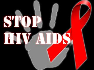 A stop HIV sign. Photo credit: Outlive your life.