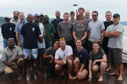 The SICCP team on board their vessel. Photo credit: SICCP.