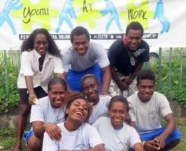 Some members of the SPC led Youth at Work initiative. Photo credit: Development Policy.