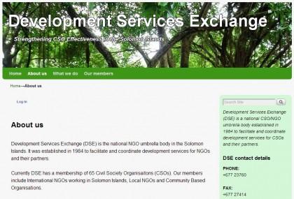 DSE's official Website. Photo credit: SIBC.
