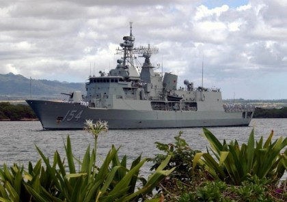 The HMAS Parramatta that will be visiting Honiara tomorrow. Photo credit: Rosalie Nongebatu.