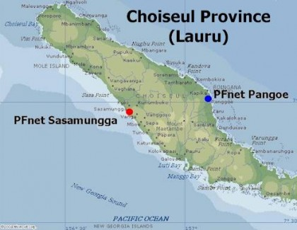 A map of Choiseul Province. Photo credit: Rural Link.