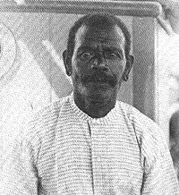 The message was from Peter Ambuofa. Peter had returned to Malaita in 1894. Photo credit: Bimi.