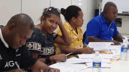 Audit training participants complete their course work. Photo credit: Andrew Sale.