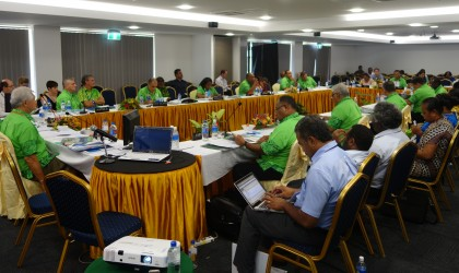 Forum Economic Ministers at the 18th FEMM in Honiara. Photo credit: SIBC.