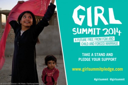 Girl Summit 2014 poster. Photo credit: UK Government.