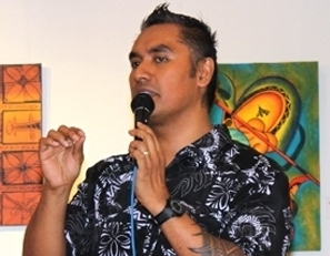 USP's Head of Performing Arts at the Oceania Centre for Arts, Culture and Pacific Studies, Mr Igelese Ete. Photo courtesy: OCACPS.