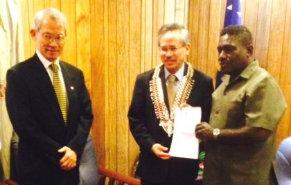 PM receives letter from Minister Chiu. Photo credit; Robert Iroga.