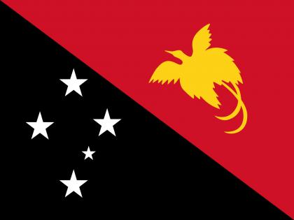 Papua New Guinea's national flag. Photo credit: Wikipedia.