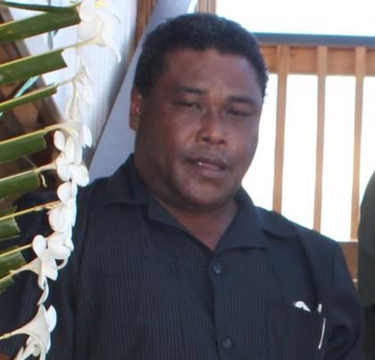 Minister of Police Christopher Laore. Photo credit: Rosalie Nongebatu.