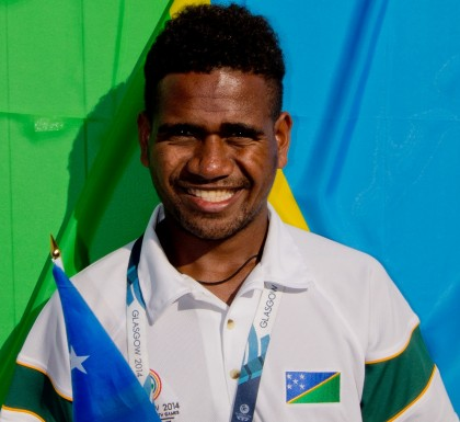 Solomon Islands 5000 Meters runner Rosefelo Siosi. Photo credit: Reporters' Academy.