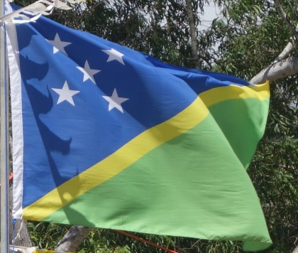 Solomon Islands National flag. Photo credit: SIBC.