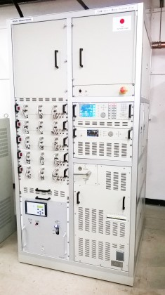 The newly installed transmitter. Photo: Nigel Kwaimani