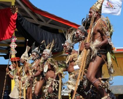 Temotu's Nelo Dancers in Action in PNG. Photo credit: GCU.