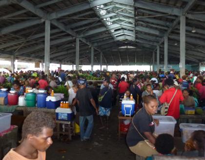 The Honiara Central Market. Photo credit: SIBC.