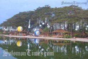 The artificial lake at Panatina. Photo credit: Solomon Times online.