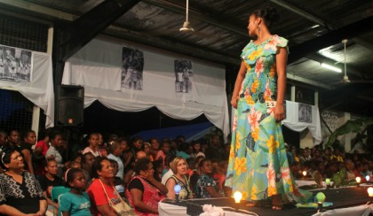 A recent fashion show during the Festival of Pacific Arts in Honiara. photo credit: VSA.