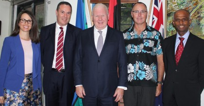 ANZ and Australian Government officials who announced the agreement. Photo credit: Rosalie Nongebatu.