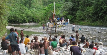 The Tina River Hydro Project at it's feasibility stage. Photo credit: Business Advantage PNG.