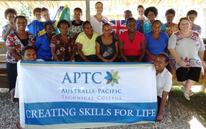 Students who enrolled for the APTC courses. Photo credit: APTC.