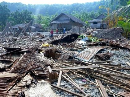 Tsunami aftermath in Temotu in 2013, Santa Cruz. Photo credit: UNOCHA.