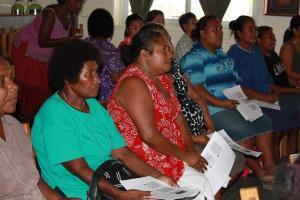 Women at a training program in Honiara