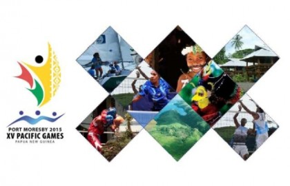 The 2015 South Pacific Games logo. Photo credit: Papua new Guinea Travel.
