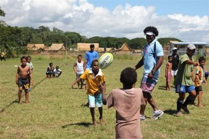 Pikinini rugby. Photo credit: SIRUF.