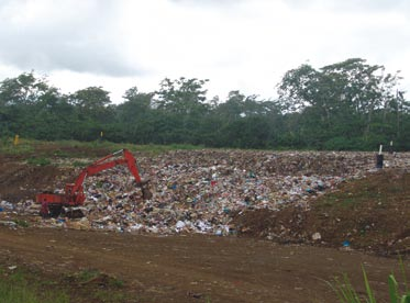 A dump site in the Pacific. Photo credit: SPREP.
